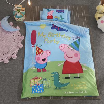 加厚保暖幼儿园被子三件套婴童6件套(水晶绒保暖系列) 珍珠棉枕芯 礼物小猪