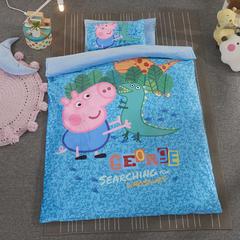 加厚保暖幼儿园被子三件套婴童6件套(水晶绒保暖系列) 珍珠棉枕芯 迷彩小猪