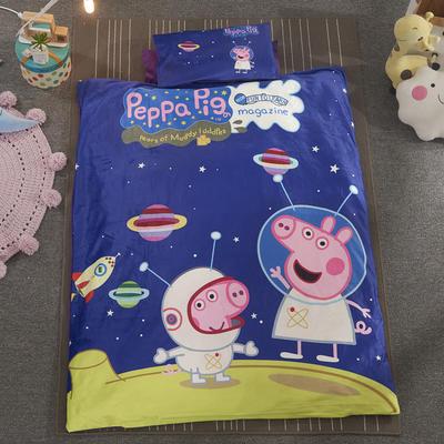 加厚保暖幼儿园被子三件套婴童6件套(水晶绒保暖系列) 棉花子母款(7件套) 太空小猪