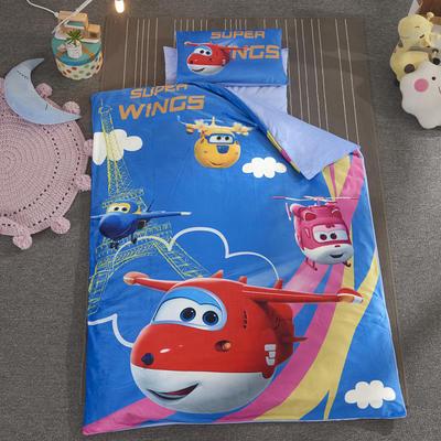加厚保暖幼儿园被子三件套婴童6件套(水晶绒保暖系列) 棉花子母款(7件套) 小飞侠