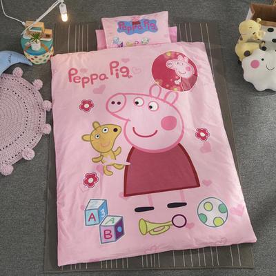 加厚保暖幼儿园被子三件套婴童6件套(水晶绒保暖系列) 棉花子母款(7件套) 小粉猪
