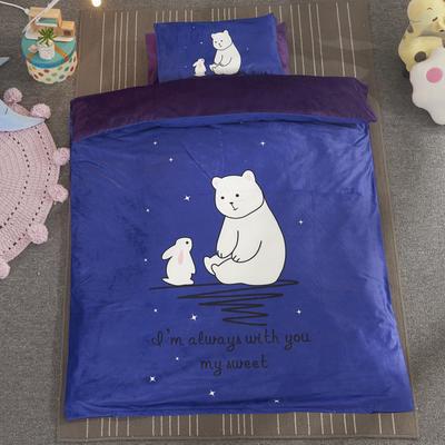 加厚保暖幼儿园被子三件套婴童6件套(水晶绒保暖系列) 棉花子母款(7件套) 星空对白