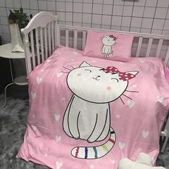 水晶绒幼儿园三件套六件套 棉花子母款(7件套) 微笑猫