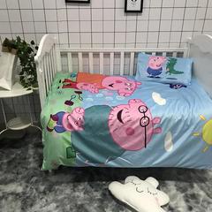 水晶绒幼儿园三件套六件套 棉花芯(被芯2斤) 小猪一家人