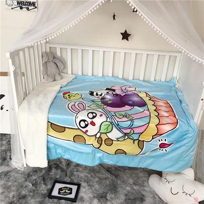 2018新款数码印花宝宝绒羊羔绒双层卡通毛毯 110*150cm 动物乐园