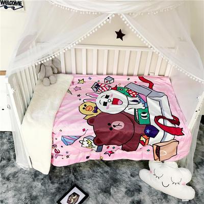 2018新款数码印花宝宝绒羊羔绒双层卡通毛毯 110*150cm 生日礼物