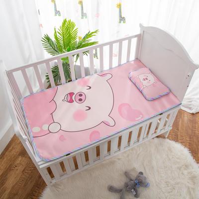 2019新款-幼儿园儿童凉席卡通冰丝席 冰丝小枕头(含荞麦壳)25*40cm 可爱小猪