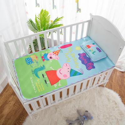 2019新款-幼儿园儿童凉席卡通冰丝席 冰丝小枕头(含荞麦壳)25*40cm 礼物小猪