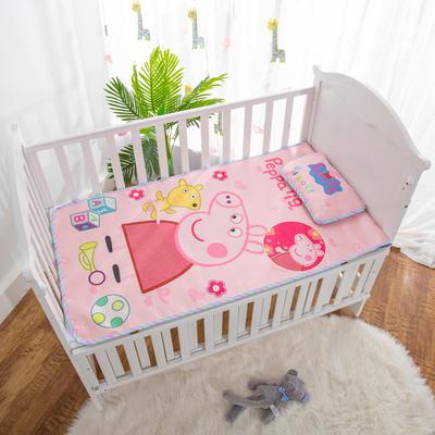 2019新款-幼儿园儿童凉席卡通冰丝席 冰丝小枕头(含荞麦壳)25*40cm 小粉猪