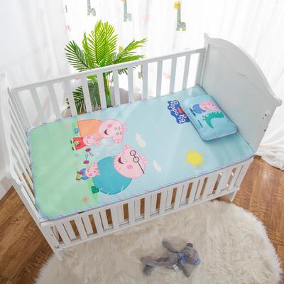 2019新款-幼儿园儿童凉席卡通冰丝席 二件套60*120cm 小猪一家