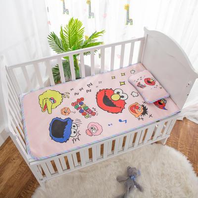2019新款-幼儿园儿童凉席卡通冰丝席 冰丝小枕头(含荞麦壳)25*40cm 芝麻街
