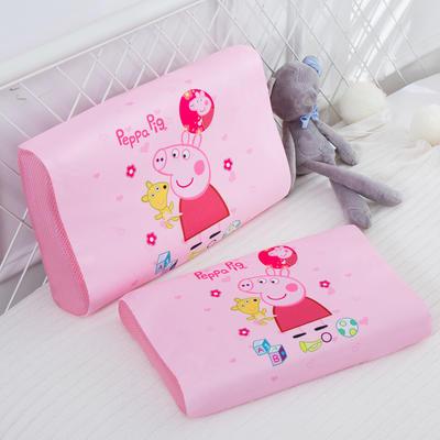 2019新款- 儿童冰丝乳胶枕卡通乳胶枕套 单枕套44*27*6 小粉猪