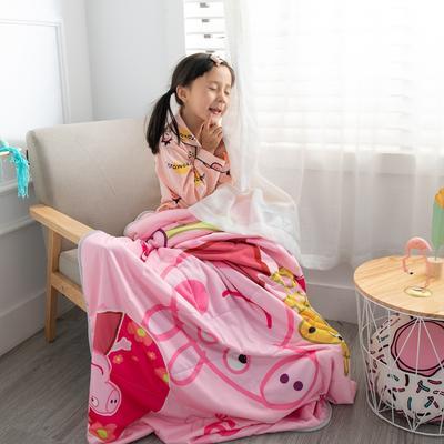 2019新款-爆款凉感天丝儿童夏凉被幼儿园夏被婴幼儿空调被 110*150cm 小粉猪