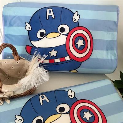 2019新款冬款保暖儿童乳胶枕卡通乳胶枕套 单枕套40*60*10*12 可爱队长
