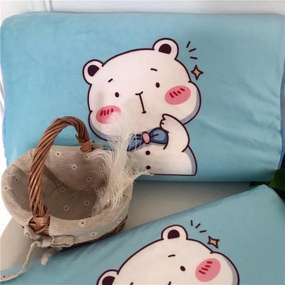 2019新款冬款保暖儿童乳胶枕卡通乳胶枕套 单枕套40*60*10*12 小熊