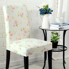 壹零 弹力椅子套 凳子套餐厅客厅饭店通用弹性椅套 田园荷塘月色