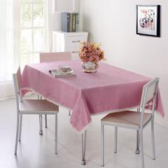 仿麻桌布 90*90cm 水晶丝绒-肉粉