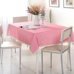 加厚桌布 台布 茶几布方桌布 餐厅客厅大桌布 90*90cm 粉色小条纹