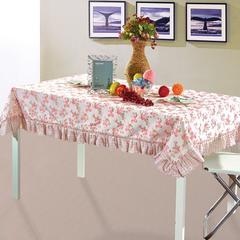 加厚桌布 台布 茶几布方桌布 餐厅客厅大桌布 90*90cm 花瓣雨