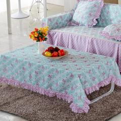加厚桌布 台布 茶几布方桌布 餐厅客厅大桌布 90*90cm 淑女紫