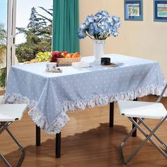 加厚桌布 台布 茶几布方桌布 餐厅客厅大桌布 90*90cm 蔚蓝
