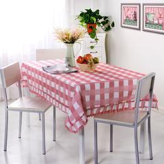 加厚桌布 台布 茶几布方桌布 餐厅客厅大桌布 90*90cm 优雅格-粉色