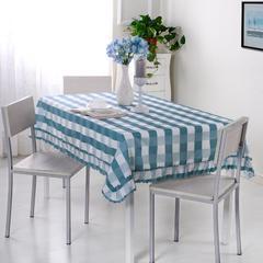 加厚桌布 台布 茶几布方桌布 餐厅客厅大桌布 90*90cm 优雅格-蓝灰