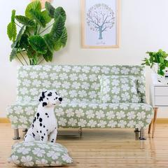 弹力沙发床套 弹性通用沙发套 无扶手沙发套子 沙发罩 沙发垫 加大号(190-225cm的沙发床用)的 漫漫飞雪
