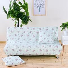 弹力沙发床套 弹性通用沙发套 无扶手沙发套子 沙发罩 沙发垫 小号(120-155cm的沙发床) 淑女紫