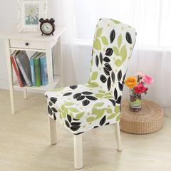 壹零 弹力通用椅套 餐厅椅子套 凳子套 宴会椅子套 叶之韵