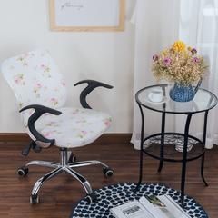 壹零 弹力通用分体式椅子套 凳子套 电脑椅子套 椅套 田园荷塘月色