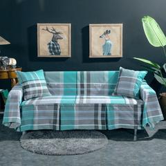 2019新款加厚锦绒沙发罩 沙发套 全盖沙发巾 抱枕套规格:45*45 格韵