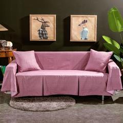 2019新款加厚锦绒沙发罩 沙发套 全盖沙发巾 抱枕套规格:45*45 简约粉