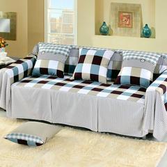 田园风活性沙发罩 沙发套 沙发巾 沙发垫-锦绒新加 右贵妃规格200*260 纽扣情缘