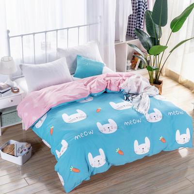 2018新款 128*68纯棉单品被套 160*210 可可兔蓝