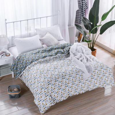2018新款 128*68纯棉单品被套 160*210 涂鸦白 (2)