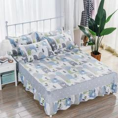 2018新款 128*68纯棉单品床裙 150*200 笨笨熊
