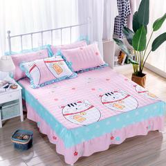 2018新款夹棉床裙 150cmx200cm 招财猫