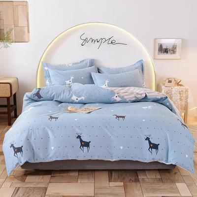 2020新款全棉12868系列四件套—床单四件套 1.2m床单款三件套 奔跑吧小鹿
