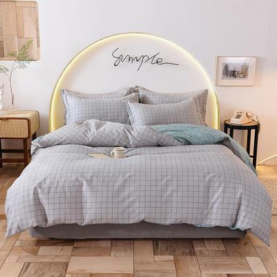 2020新款全棉12868系列四件套—床单四件套 1.2m床单款三件套 罗曼灰