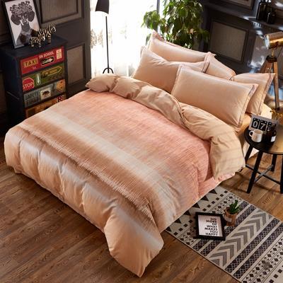 铂金磨毛四件套 小版花型 标准(1.5m床) 乔治-橘