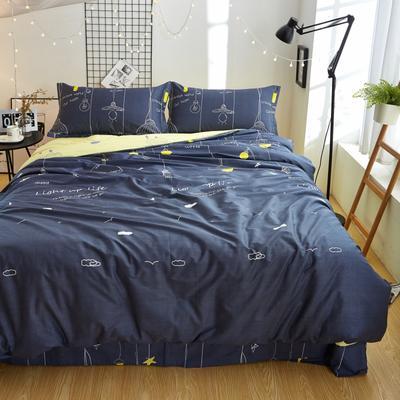 全棉40匹马棉四件套 标准(1.8m床) 晚安星点