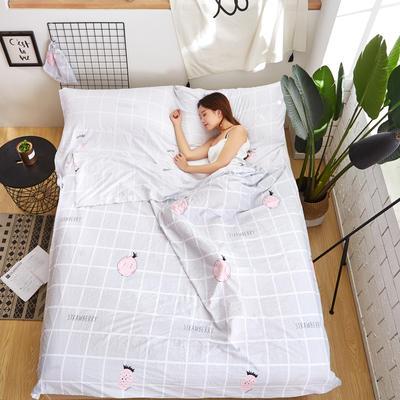 酒店隔脏睡袋 甜心草莓 120*220cm