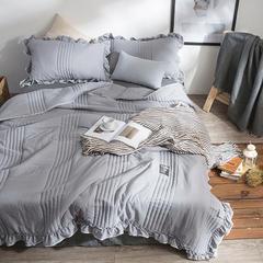 2018新款 素色北欧水洗棉夏被 200*230 灰色