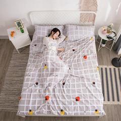 2018新款  水洗棉隔脏睡袋(专版花型) 草莓格120*220cm