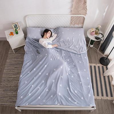 2018新款  水洗棉隔脏睡袋(专版花型) 慢时光160*220cm