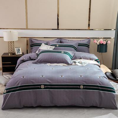 2019新款-全棉磨毛四件套 床单款1.8m(6英尺)床 安洛卡