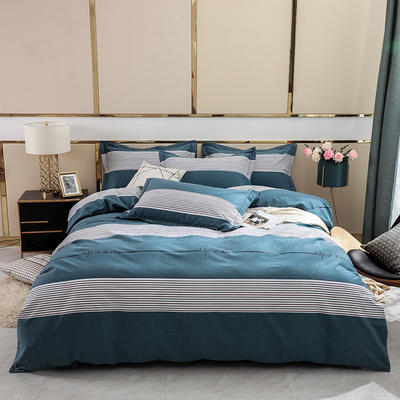 2019新款-全棉磨毛四件套 床单款1.8m(6英尺)床 奥德-兰