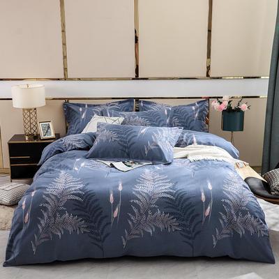 2019新款-全棉磨毛四件套 床单款1.8m(6英尺)床 静若繁花