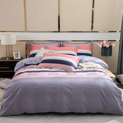 2019新款-全棉磨毛四件套 床单款1.5m(5英尺)床 罗拉-灰